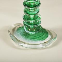 Tall pair of Italian Murano green glass Pebble lamps - 1842750