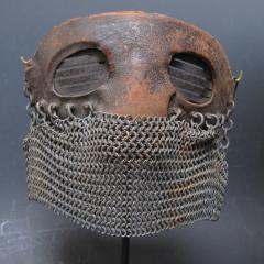 Tank Operators Mask from WWI of Iron Leather and Chain Mail - 285125