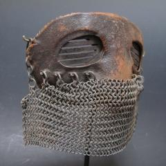 Tank Operators Mask from WWI of Iron Leather and Chain Mail - 285126