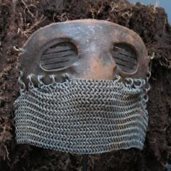 Tank Operators Mask from WWI of Iron Leather and Chain Mail - 285127