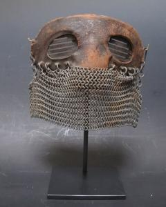 Tank Operators Mask from WWI of Iron Leather and Chain Mail - 285128