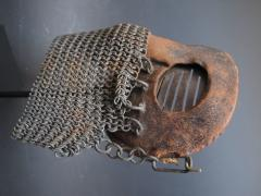 Tank Operators Mask from WWI of Iron Leather and Chain Mail - 285129
