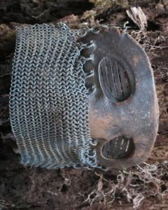 Tank Operators Mask from WWI of Iron Leather and Chain Mail - 285130