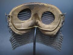 Tank Operators Mask from WWI of Iron Leather and Chain Mail - 285131