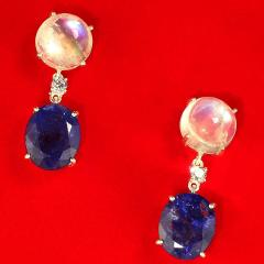 Tanzanite and Moonstone Nautical Collection Earrings from Gemjunky - 1710055