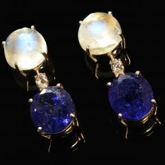 Tanzanite and Moonstone Nautical Collection Earrings from Gemjunky - 1710058