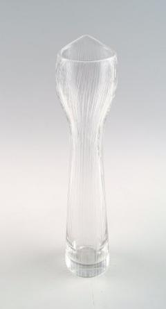 Tapio Wirkkala Clear art glass vase with engraved decoration in the form of stripes - 1330712