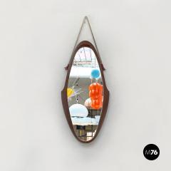 Teak oval mirror 1960s - 2102682