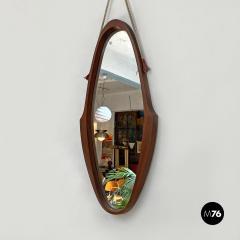 Teak oval mirror 1960s - 2102761