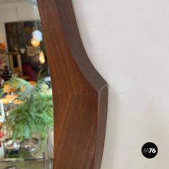 Teak oval mirror 1960s - 2102763