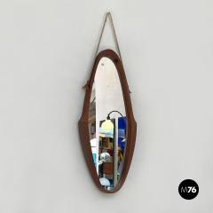 Teak oval mirror 1960s - 2102770