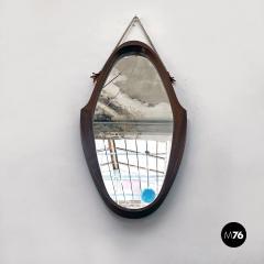 Teak oval mirror 1960s - 2102771