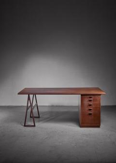 Teak veneered desk Sweden - 1225155