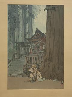 Temple in the Woods Hiroshi Yosnida Woodblock - 1722427