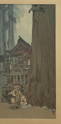 Temple in the Woods Hiroshi Yosnida Woodblock - 1722431