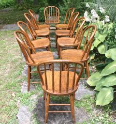 Ten Connecticut Hoop Back Windsor Chairs - 1463972