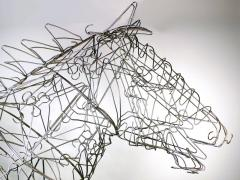 Terence Gower Massive Horse Sculpture Crafted From 1000 Chrome Coat Hangers for Barneys NY - 1191003