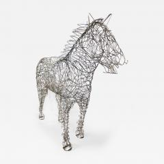 Terence Gower Massive Horse Sculpture Crafted From 1000 Chrome Coat Hangers for Barneys NY - 1191166