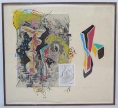 Terence La Noue Terence La Noue Mixed Media on Paper from The Ritual Series  - 1912676