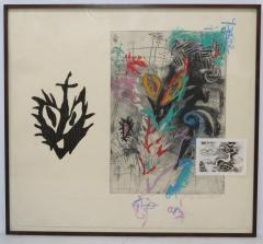 Terence La Noue Terence La Noue Mixed Media on Paper from The Ritual Series  - 2061656