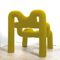 Terje Ekstrom Iconic Yellow Armchair by Terje Ekstrom Norway 1980s - 1182018