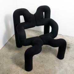 Terje Ekstrom Pair of Iconic Black Armchairs by Terje Ekstrom Norway 1980s - 1181792