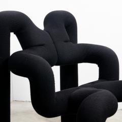 Terje Ekstrom Pair of Iconic Black Armchairs by Terje Ekstrom Norway 1980s - 1181799