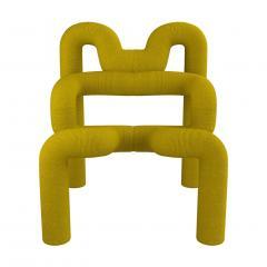 Terje Ekstrom Pair of Iconic Yellow Lounge Chairs by Terje Ekstrom Norway 1980s - 1181724