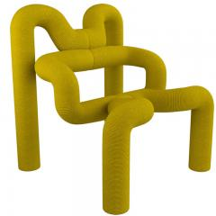 Terje Ekstrom Pair of Iconic Yellow Lounge Chairs by Terje Ekstrom Norway 1980s - 1181725