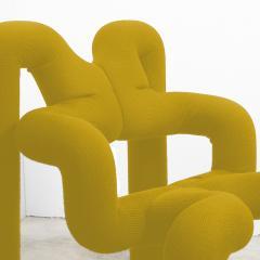 Terje Ekstrom Pair of Iconic Yellow Lounge Chairs by Terje Ekstrom Norway 1980s - 1181751