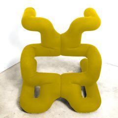Terje Ekstrom Pair of Iconic Yellow Lounge Chairs by Terje Ekstrom Norway 1980s - 1181752