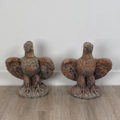 Terra Cotta Eagles England Circa 1800 A Pair - 1770074