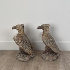 Terra Cotta Eagles England Circa 1800 A Pair - 1770076