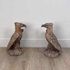 Terra Cotta Eagles England Circa 1800 A Pair - 1770077