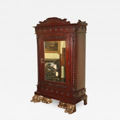 Thai Lion Sentry Mirrored Cabinet - 1468673