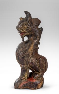 Thai Mythological Guardian Lion Sculpture - 680248