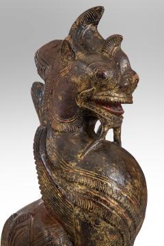 Thai Mythological Guardian Lion Sculpture - 680250