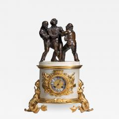 The Death of Nelson commemorative striking mantelpiece clock - 1071756