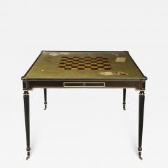 The Louis XVI Style Trompe Loeil Painted Card Table - 1558930