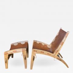 The Quilpo Lounge Chair Ottoman Dan Burstyn Argentine - 1320952