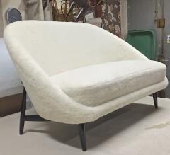 Theo Ruth Theo Ruth for Artifort rare couch newly covered in wool faux fur - 1783393
