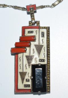 Theodor Fahrner Pendant Necklace Art Deco - 739204