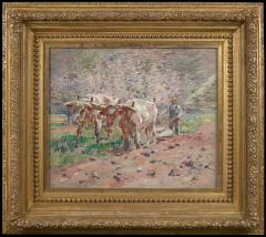 Theodore Robinson Springtime Vermont Oxen Plowing  - 1013191