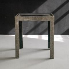 Thierry Voeltzel Side tables in Lacquer and Eggshell - 1182905