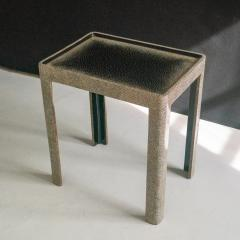 Thierry Voeltzel Side tables in Lacquer and Eggshell - 1182907