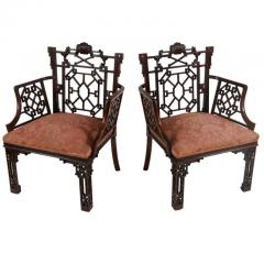 Thomas Chippendale Chinese Chippendale Armchairs Lord Leverhulme - 842667