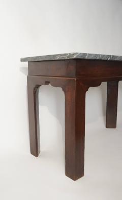Thomas Chippendale English Georgian Marble Top Mahogany Slab or Side Table - 1034253
