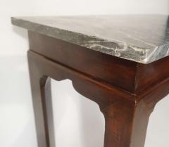 Thomas Chippendale English Georgian Marble Top Mahogany Slab or Side Table - 1034261