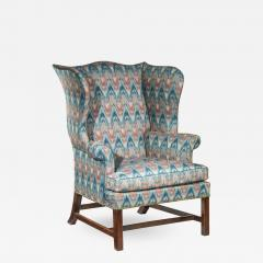 Thomas Chippendale Fine George III Chippendale Mahogany Wing Armchair - 920793