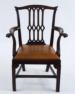Thomas Chippendale Gothic Chippendale Mahogany Armchair - 1073502